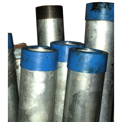"""2"""" X 5' GALV DRIVE PIPE - EXTRA THREADS"""