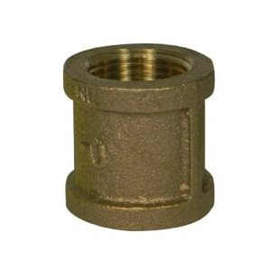 """3 / 8"""" NO-LEAD BRASS COUPLING"""