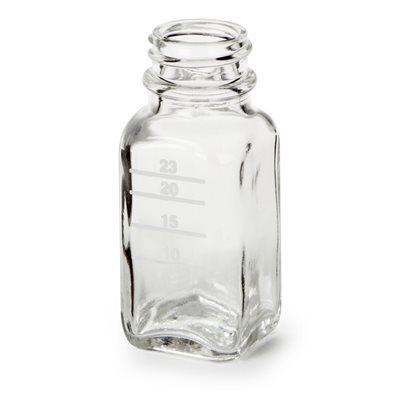 GLASS MIXING BOTTLE - SQUARE (6 PACK)