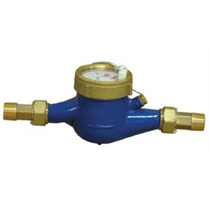 """3 / 4"""" FLOW MTR - BRASS - 10 PULSES / GAL - 0.25-20 GPM"""